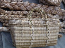 Basketry from vines Royalty Free Stock Images