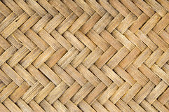 Basketry weave. Close-up basketry weave Old and Dirty bamboo texture pattern background Stock Images