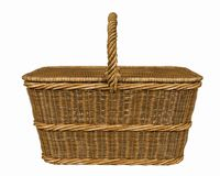 Basketry in a white backgound. Put some action in yours creations stock images