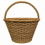 Basketry in a white backgound. Put some action in yours creations royalty free stock image