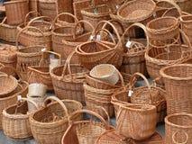 Baskets. Wicker baskets stock image