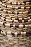 Baskets. Abstract of a stack of woven baskets Stock Photos