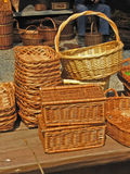 Baskets 2. Couple of baskets stock photography