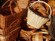 Baskets. At the market Stock Photos