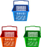 Baskets. This picture have a different colour baskets Royalty Free Stock Photography