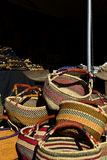 Baskets at African Art Village of Tucson Gem and Mineral Show Royalty Free Stock Photo