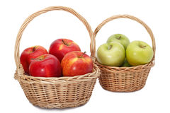 Baskets of apples Royalty Free Stock Image