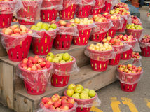 Baskets of Apples Stock Images