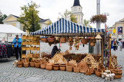 Baskets At An Open Air Market Royalty Free Stock Images