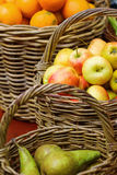 Baskets with different fruits Royalty Free Stock Photo