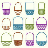 Baskets  with different weaves Royalty Free Stock Images