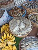 Baskets of Dried Fish Stock Photo