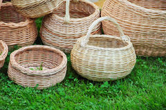 Baskets on fair Royalty Free Stock Photography
