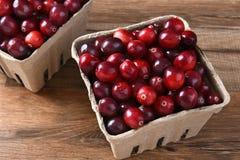 Baskets of Fresh Cranberries Stock Photos