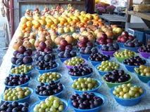 Baskets of fruit Stock Image