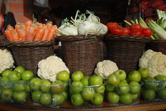 Baskets with fruit and vegetables Royalty Free Stock Photography