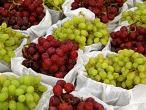 Baskets of grapes Royalty Free Stock Image