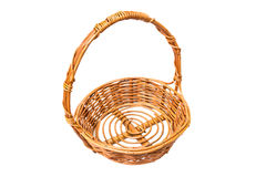 Baskets isolated on white background Royalty Free Stock Photos