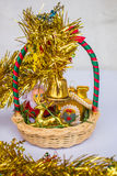 Baskets Lucky. New Year's Day Stock Photography