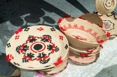 baskets made with rushes typical handmade crafts of Sardinia Stock Photography