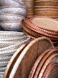 Baskets on a market Stock Photo