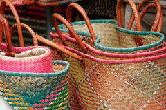 Baskets on a market. Together of basket on a market; basket Royalty Free Stock Photo