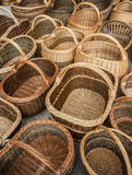 Baskets at a market Stock Photography