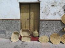 Baskets and mats Royalty Free Stock Photos
