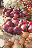 Baskets of Onions Royalty Free Stock Photography