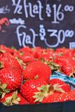 Baskets of Ripe Strawberries Royalty Free Stock Photos