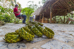 Baskets for sale at the Cueva del Indio (Cave of the Indian), Cuba Stock Photo