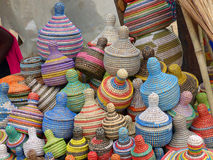 Baskets for sale, Senegal Royalty Free Stock Photos
