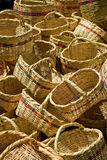 Baskets in Saquisili street market, Ecuador Royalty Free Stock Images