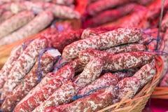 Baskets of Sausage Stock Photos