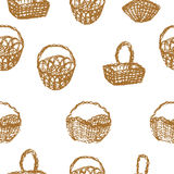 Baskets seamless pattern Royalty Free Stock Photography