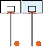 Baskets. Set of two kind of basket Stock Image