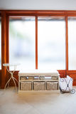 Baskets and slippers Stock Photography