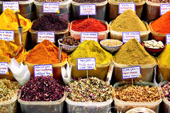 Baskets of Spice on display Royalty Free Stock Photography