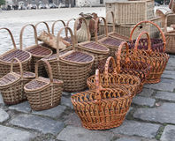 Baskets stand Stock Photo