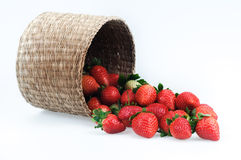 Baskets and strawberries Stock Photo
