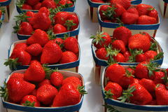 Baskets strawberries Stock Image
