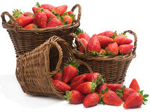Baskets with strawberries Royalty Free Stock Image