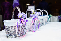 Baskets on table Royalty Free Stock Photo