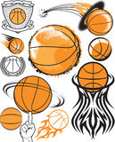 Basketsamling Arkivbilder