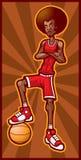 basketspelare stock illustrationer