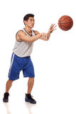Basketspelare Fotografering för Bildbyråer