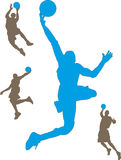 Basketspelare arkivfoton