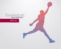 Basketspelare av trianglarna Royaltyfria Bilder