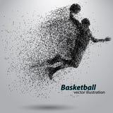 Basketspelare från partiklar Arkivfoton