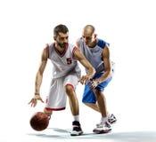 Basketspelare i uppgift Arkivbild